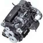 podłużny, czarny silnik