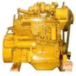 japoński żółty silnik Komatsu